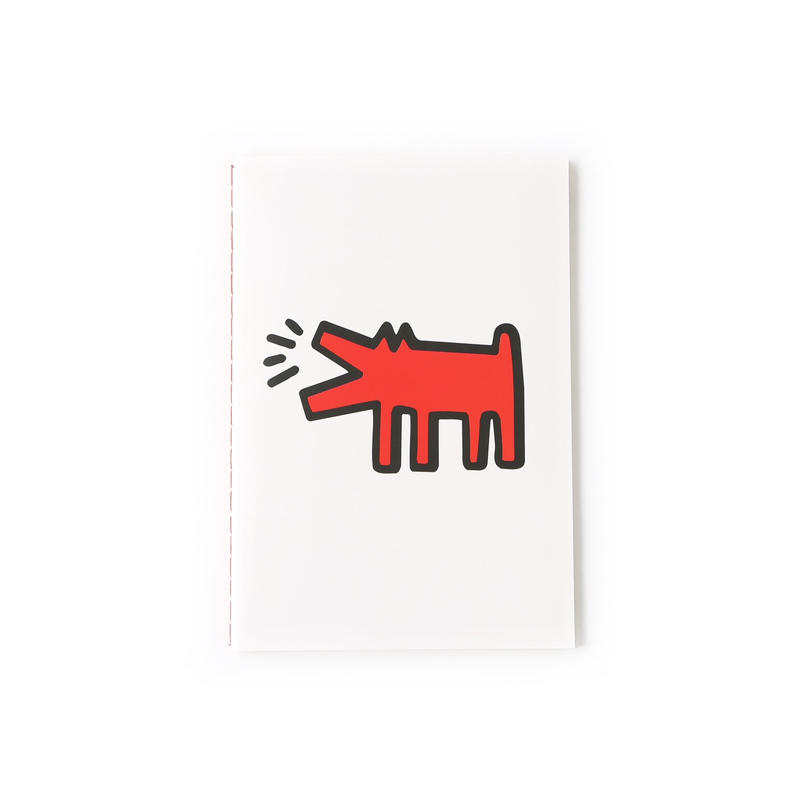 ASOKO  KEITH HARING NOTE BOOK (DOG &HEART)