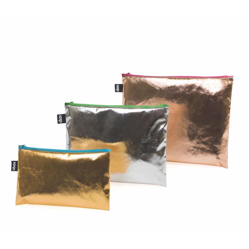 LOQI Metallics Zip Pockets