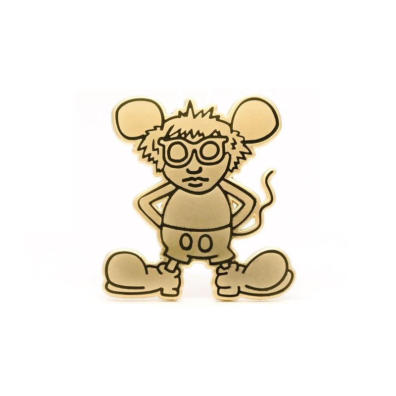 Andy Mouse Enamel Pin  (Gold)
