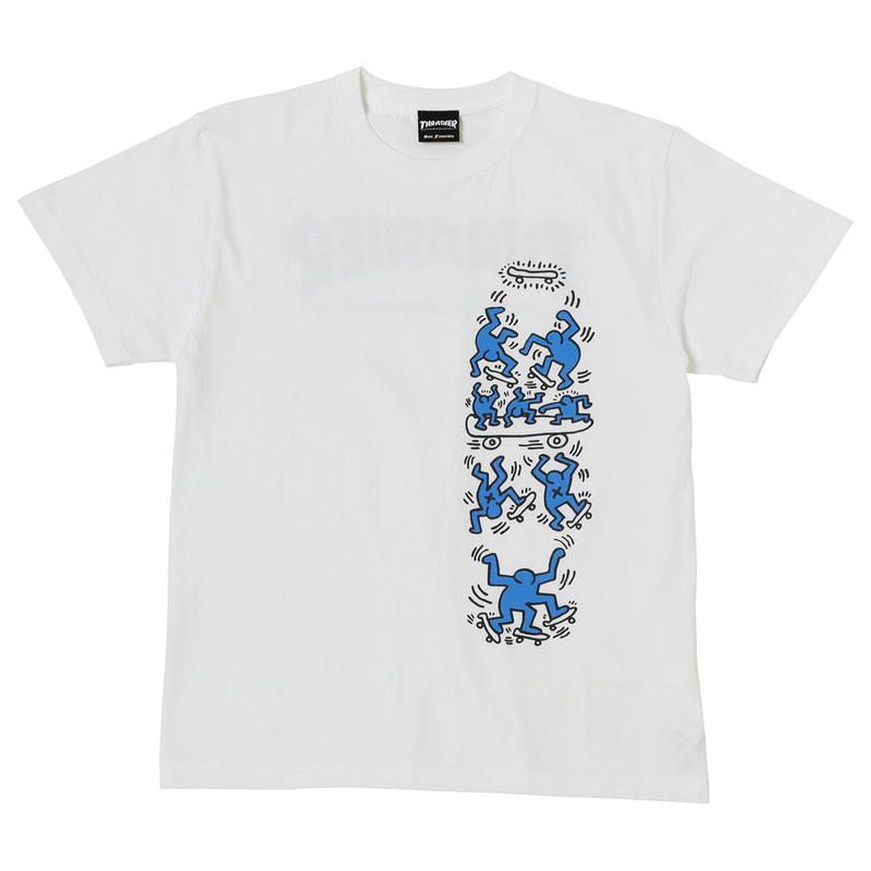 Keith Haring × THRASHER Tee White THKH-ST20