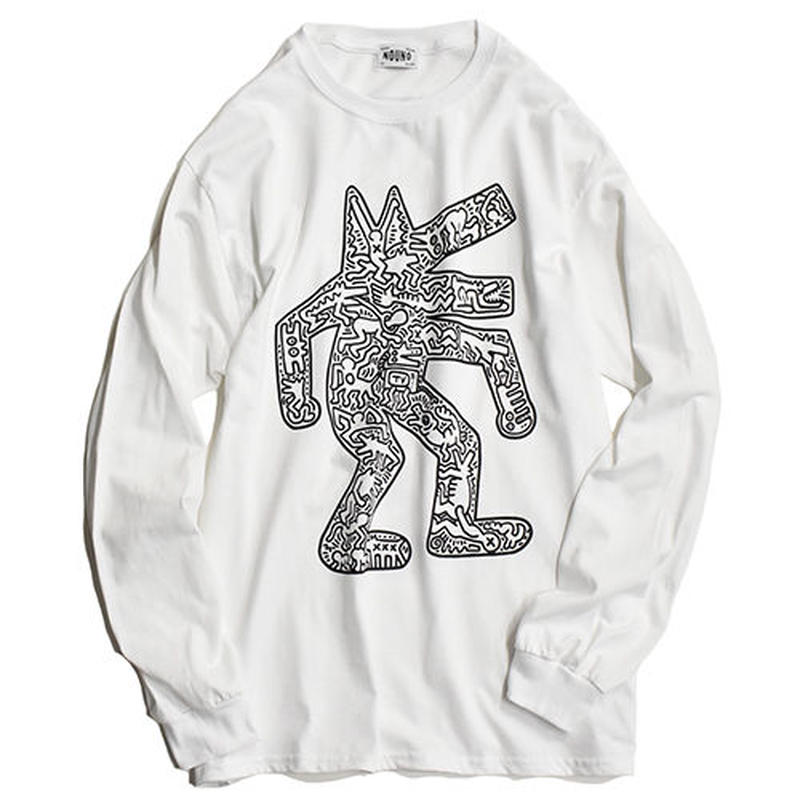 Nouno Keith Haring  ART Tee Long Sleeve  <Dog,1986> KH-NN1816