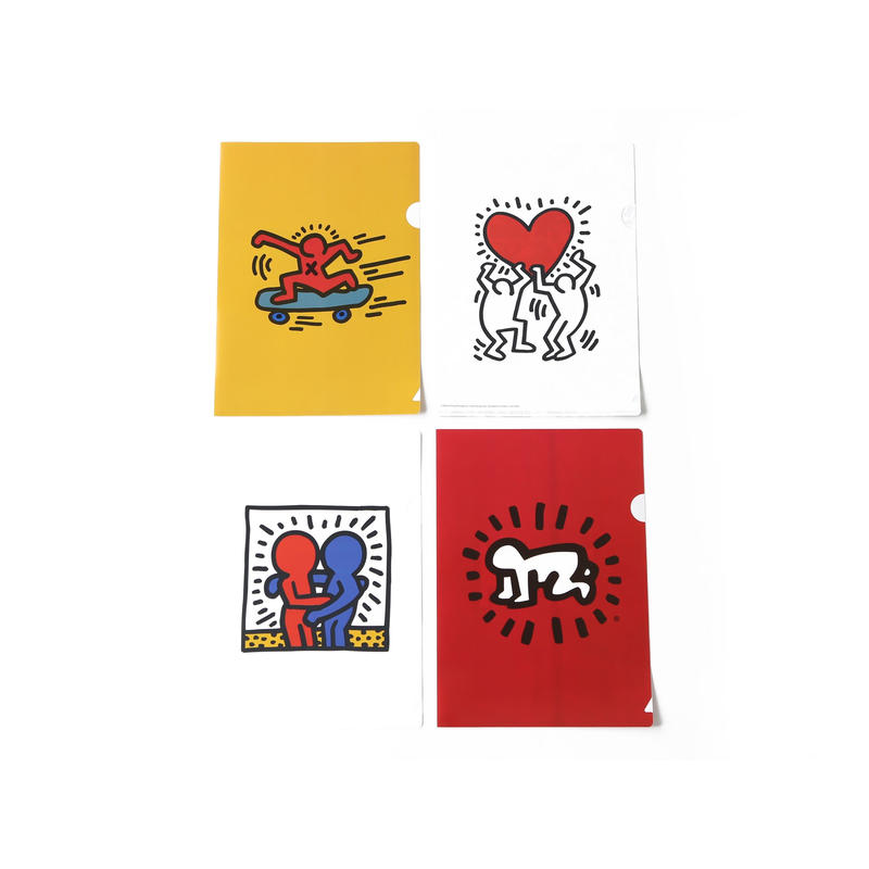 ASOKO  KEITH HARING CLEAR FILE 4PCS SET