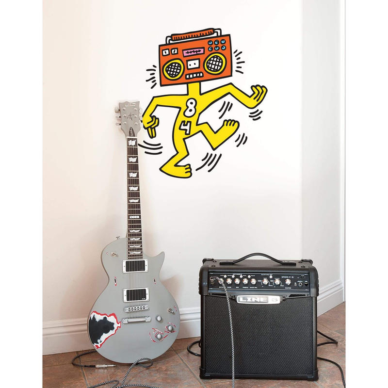 BLIK  Keith Haring Mr Boombox Wall Sticker