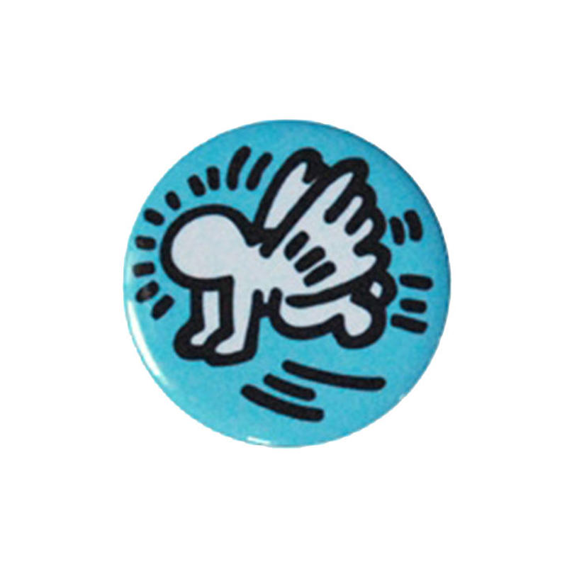 Keith Haring Round Magnet (Angel)