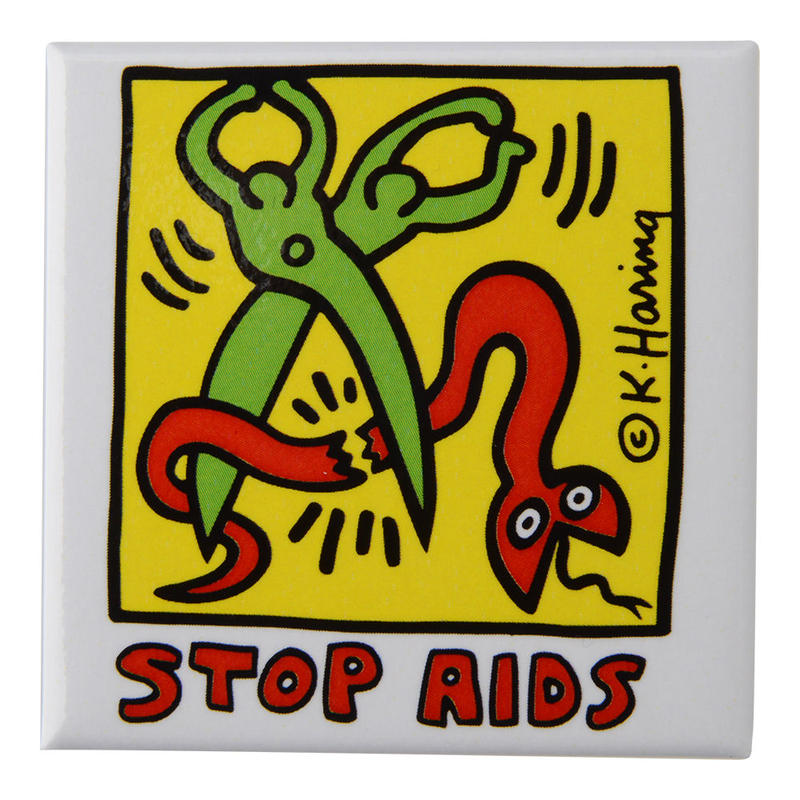 POP SHOP Keith Haring  Stop Aids Button