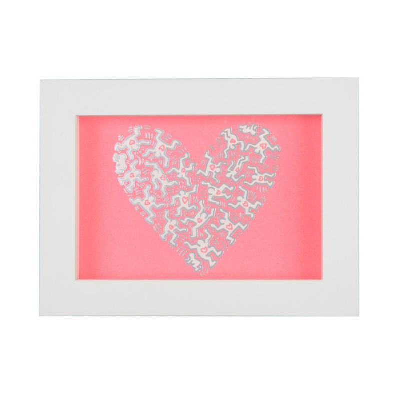 Framed Embossed Postcard  額装ポストカード  箔押し (Heart)