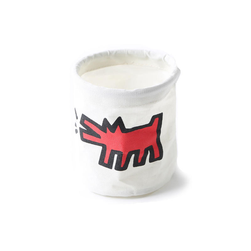 ASOKO  KEITH HARING ROUND BOX (DOG)