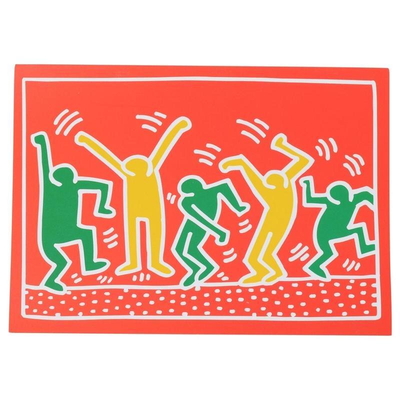 Keith Haring Holiday Notecard  キース・ヘリング クリスマス カード (Red Green Orange)