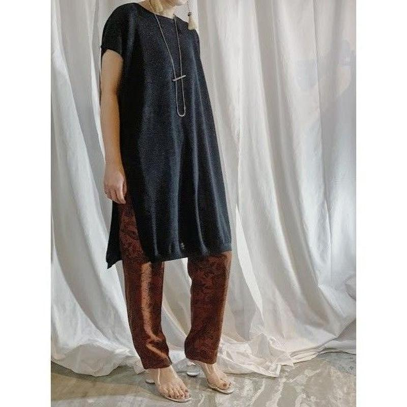 linen knit dress  (black)