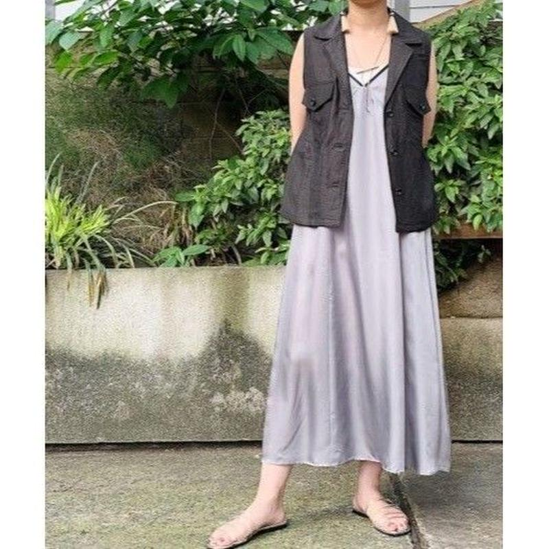 cupra slip-dress (gray)
