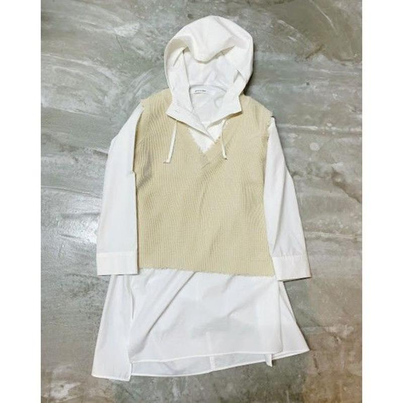 hoodie tunic (off white)