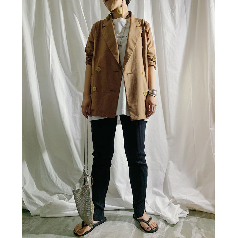 double tailored jacket(brown)