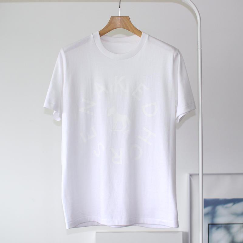 【SALE】7.1oz Heavyweight College Tshirts White