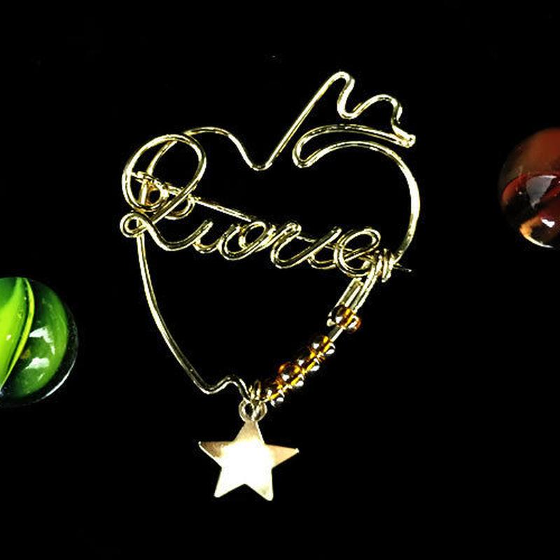 """ブローチ DUECCEL """"LOVE"""" P026"""