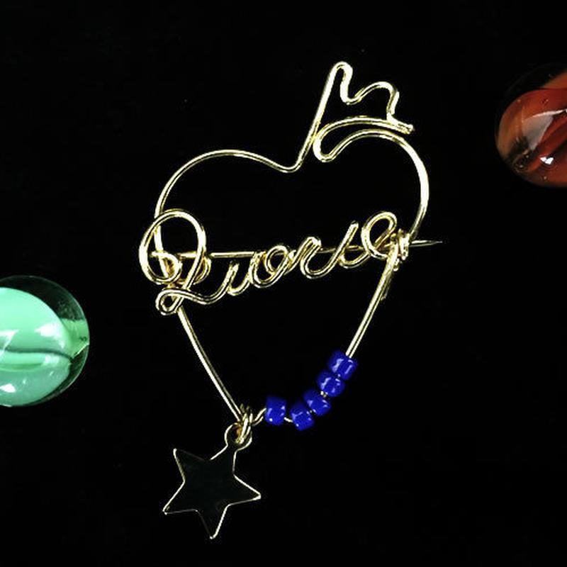 """ブローチ DUECCEL """"LOVE"""" P031"""