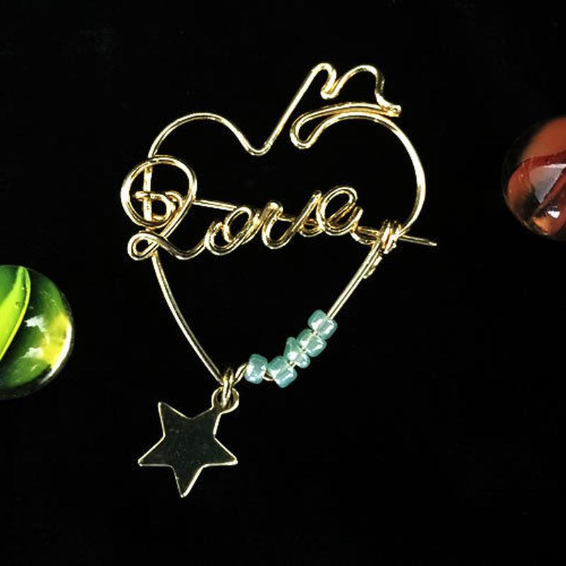 """ブローチ DUECCEL """"LOVE"""" P029"""