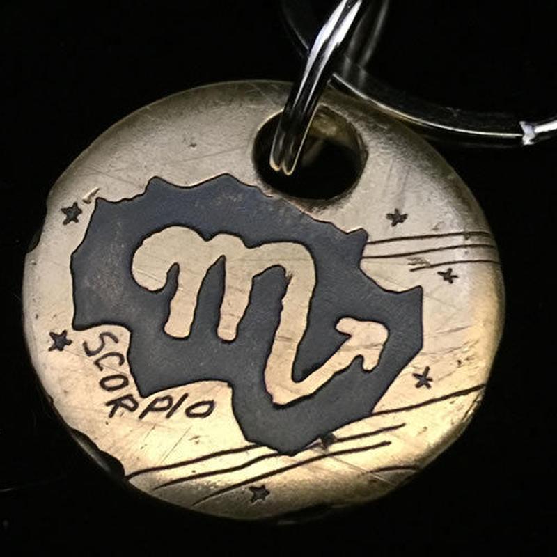 """銅板キーホルダー """"SCOPIO""""  M022"""