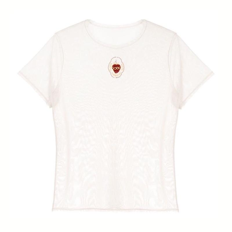 Heart mesh T-shirt