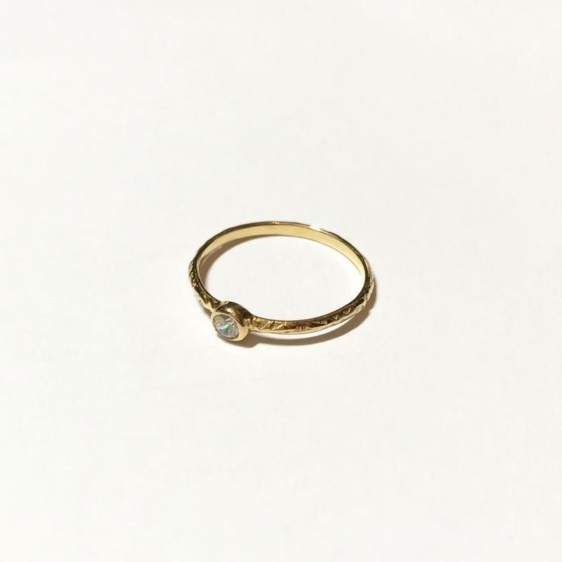 【受注商品】Birthday stone pattern ring (4月/キュービックジルコニア)