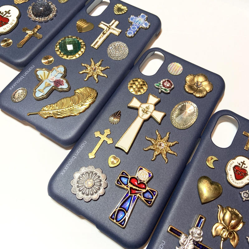 iPhone case X, XS size 〈Navy〉