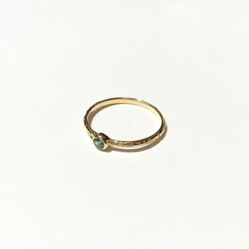 【受注商品】Birthday stone pattern ring (5月/エメラルド)