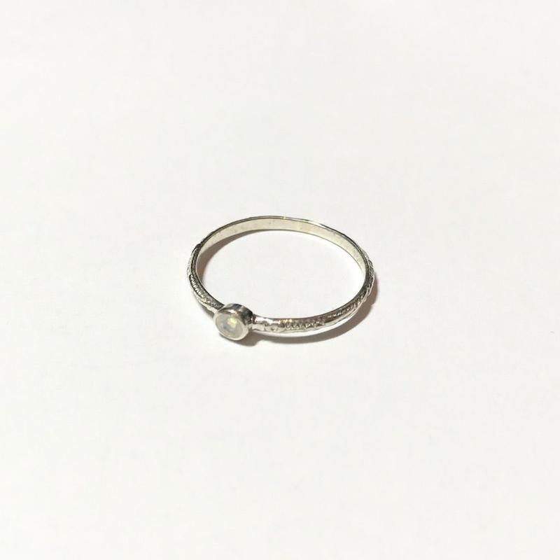 【受注商品】Birthday stone pattern ring (10月/オパール)
