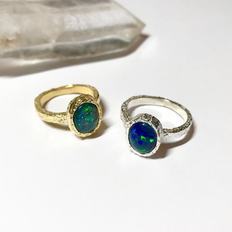 【受注商品】Tiny opal ring