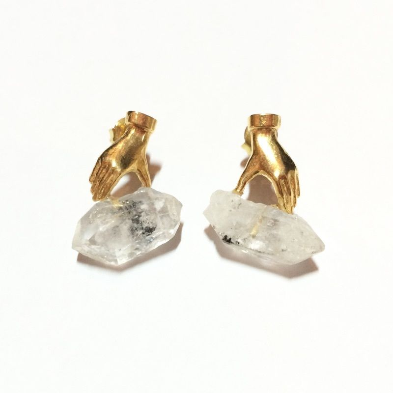 【受注商品】Dress in crystal pierce / earring (SET)