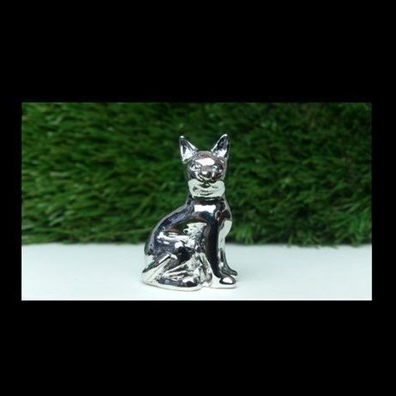 カードホルダー   (ネコ シルバー)
