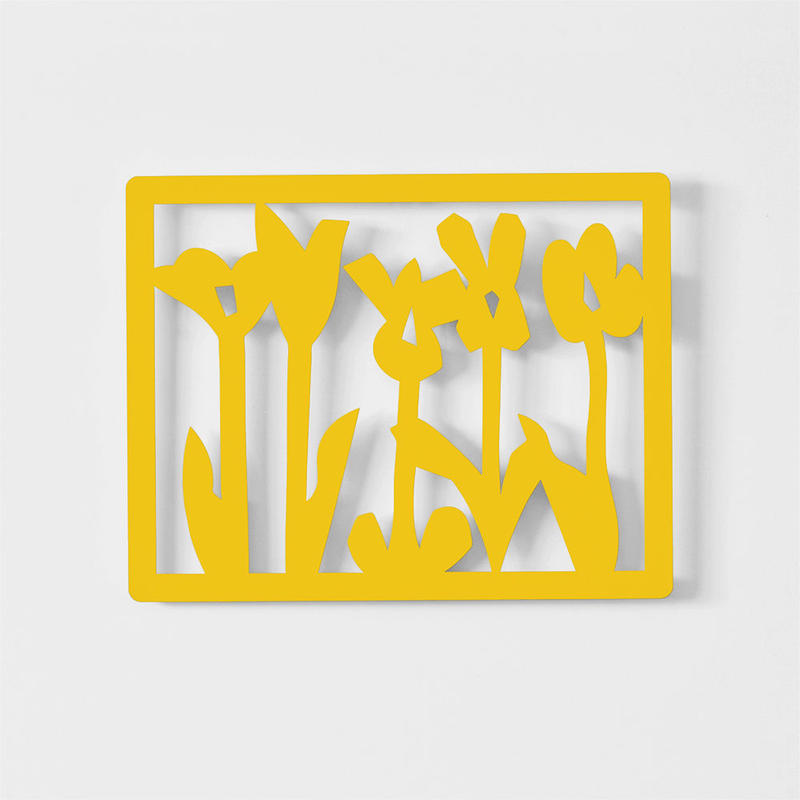 壁掛  【 花畑 Yellow 】数量限定直筆サイン入り