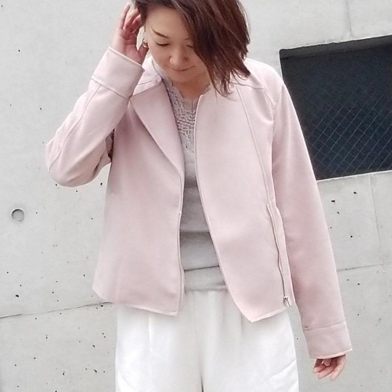 スエードポンチライダース ピンク