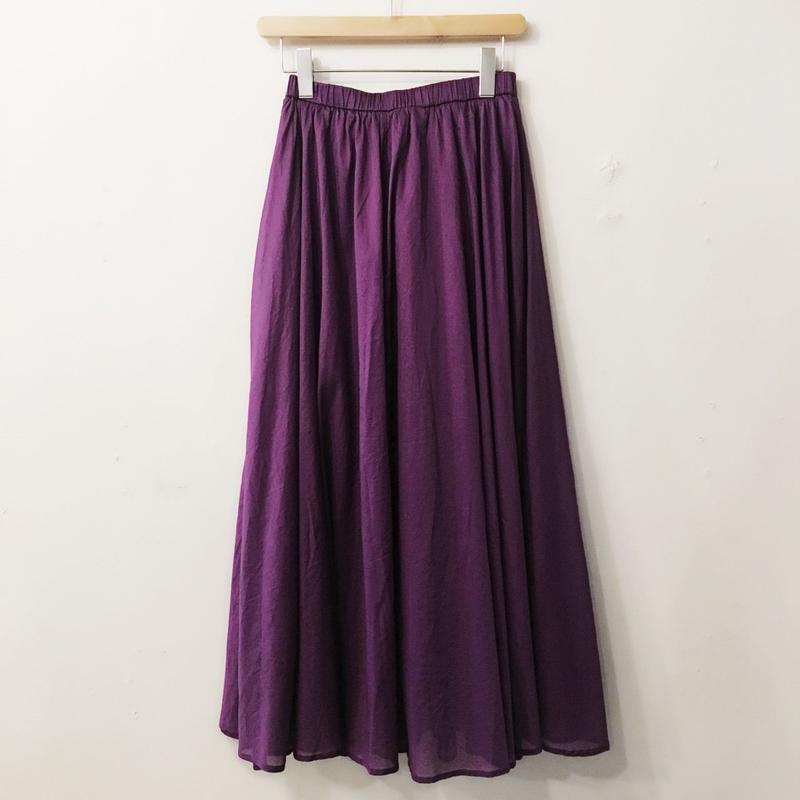 Dignite collier フレアギャザースカート