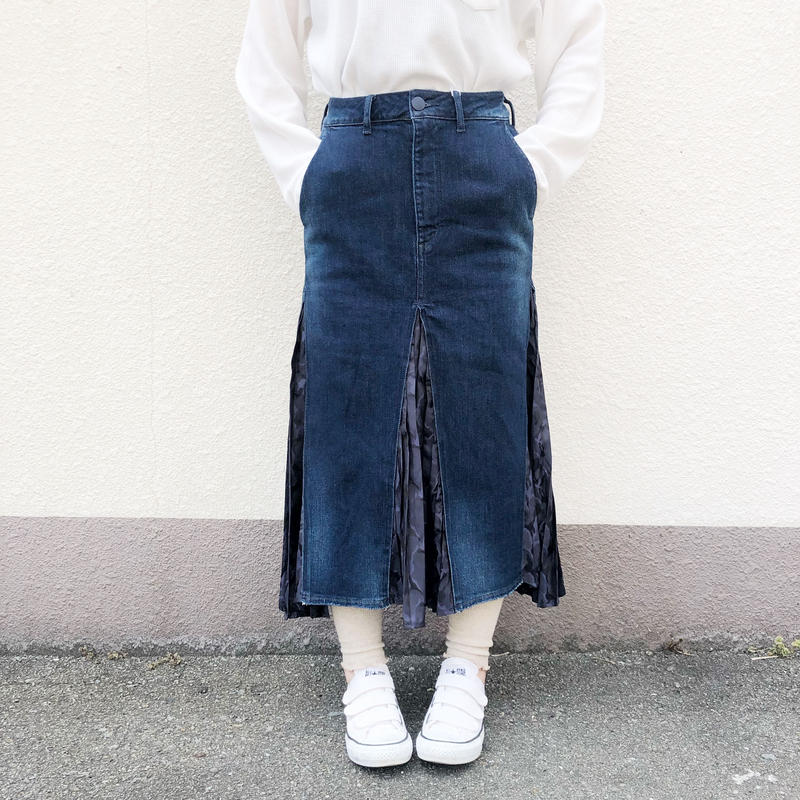 【ANTGAUGE】プリーツ切替デニムスカート