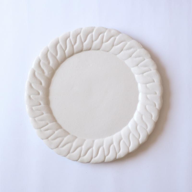 森のはなしchain dish-L-white