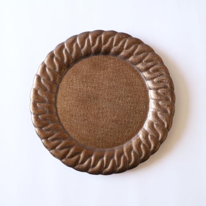 森のはなし-chain dish-L-bronze