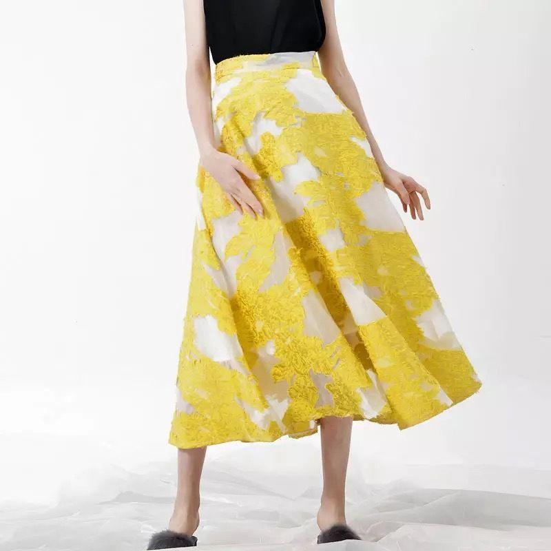 スプリングフラワーメッシュスカートS.M 2色展開