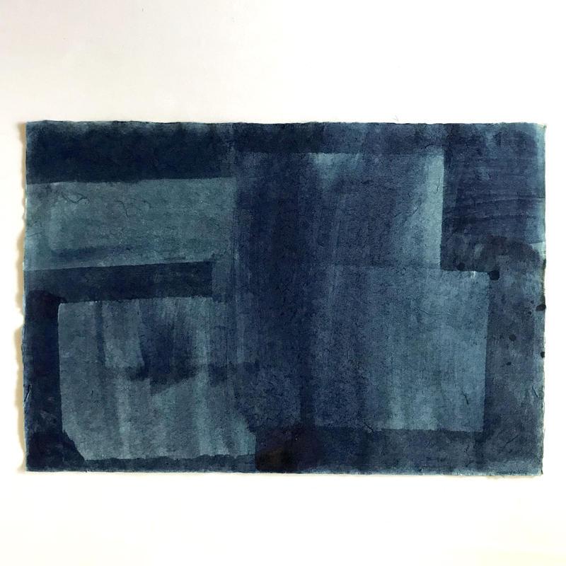 藍染手漉き和紙