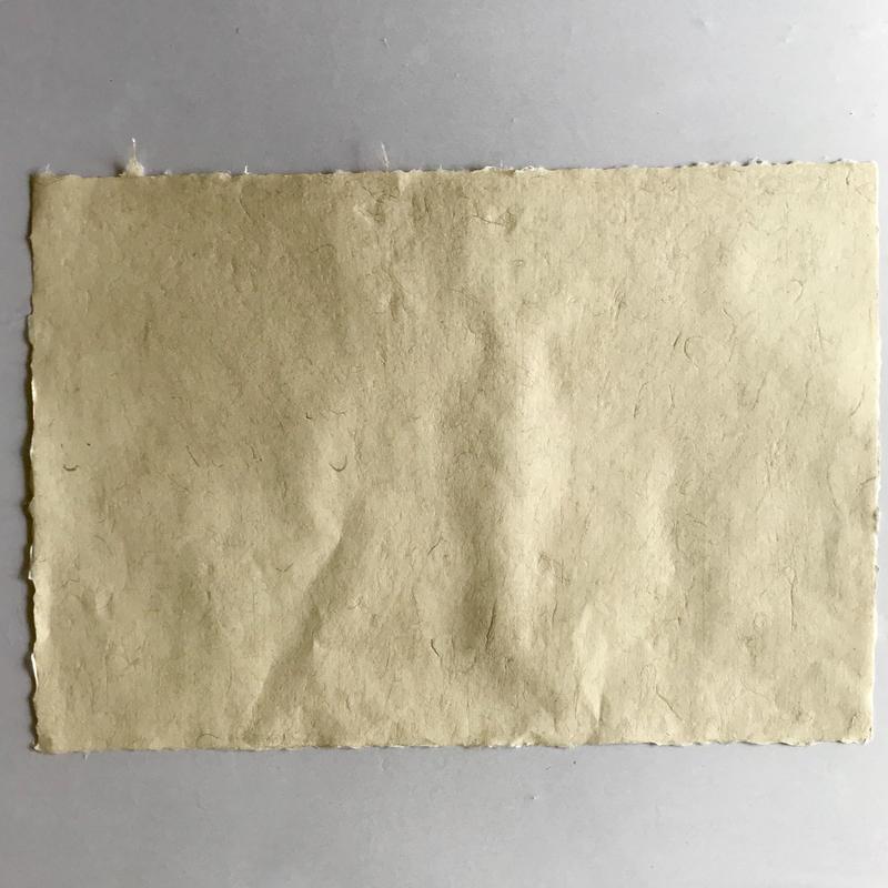 麻(苧麻)入り手漉き和紙