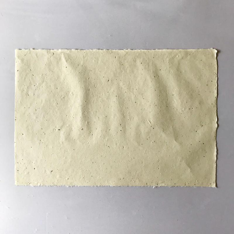 梶皮入り手漉き和紙