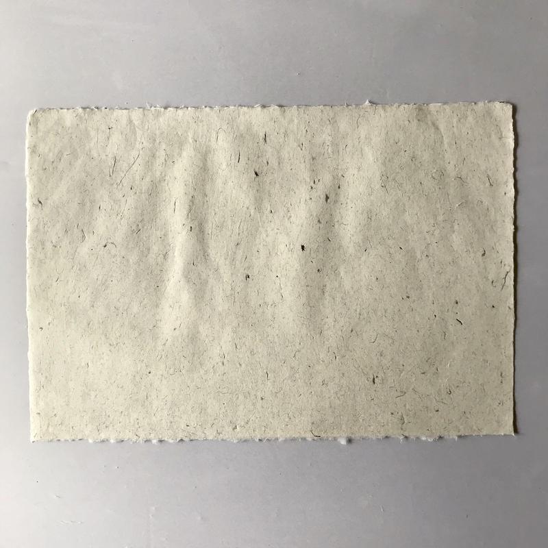 杉皮入り手漉き和紙