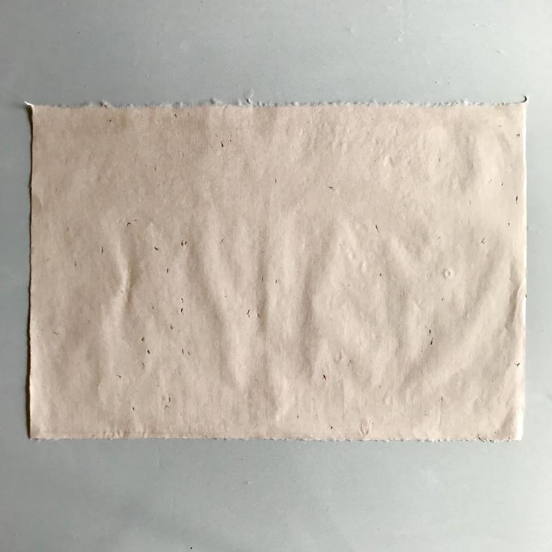 紅花入り手漉き和紙(ピンク、黄)