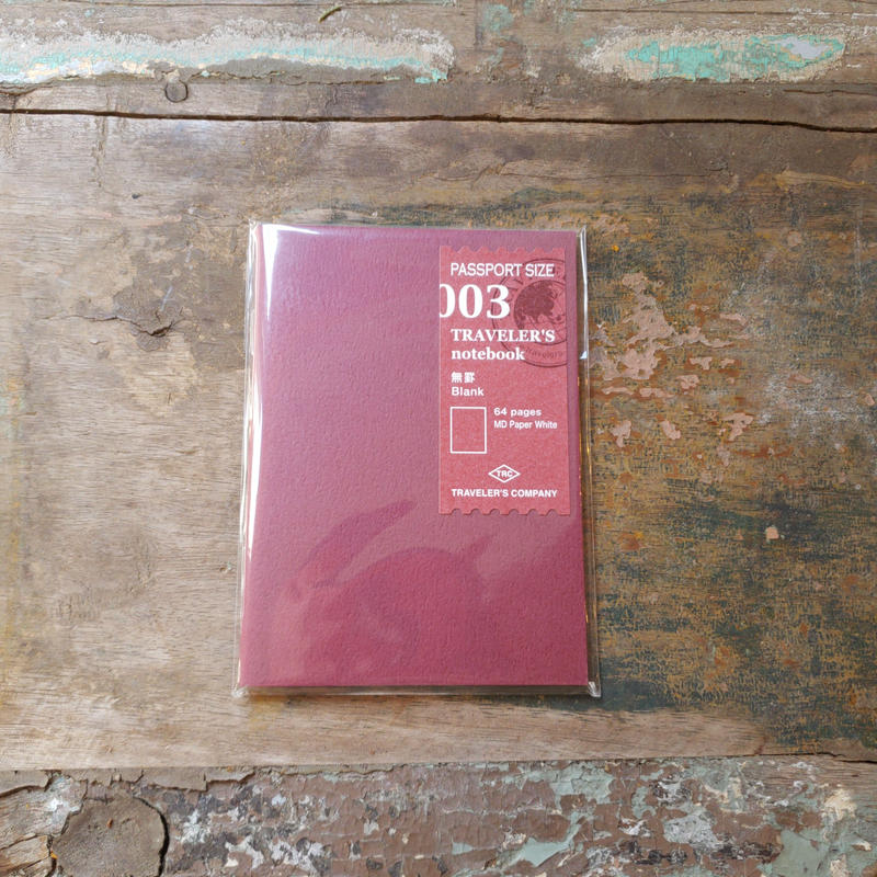 【TRAVELER'S notebook】リフィル 無罫 パスポートサイズ