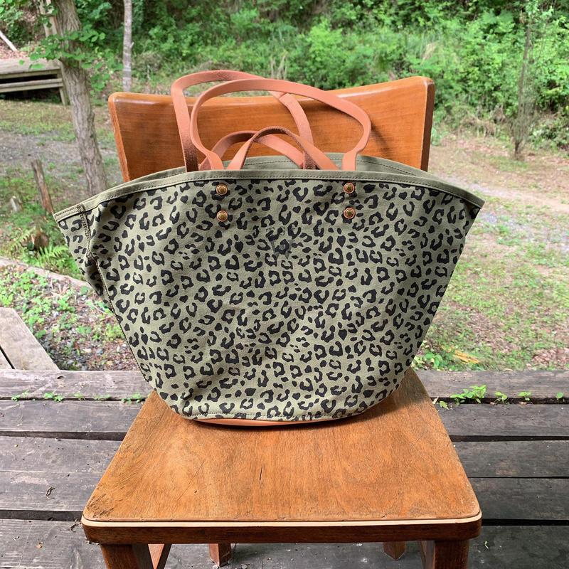 48.leopard market bag L