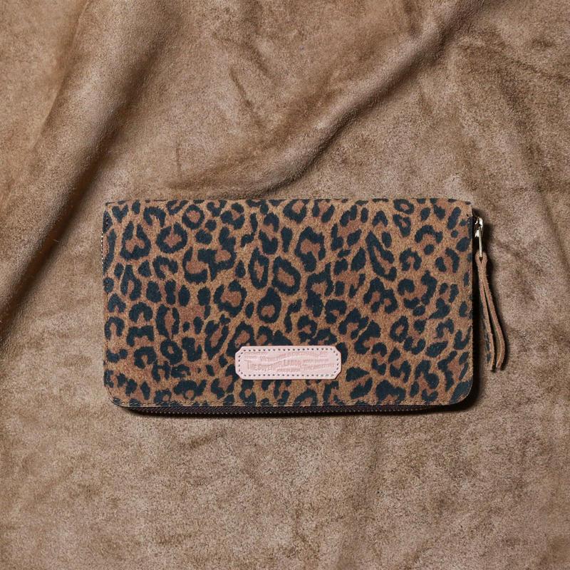 【THE SUPERIOR LABOR 】leopard print large zip wallet