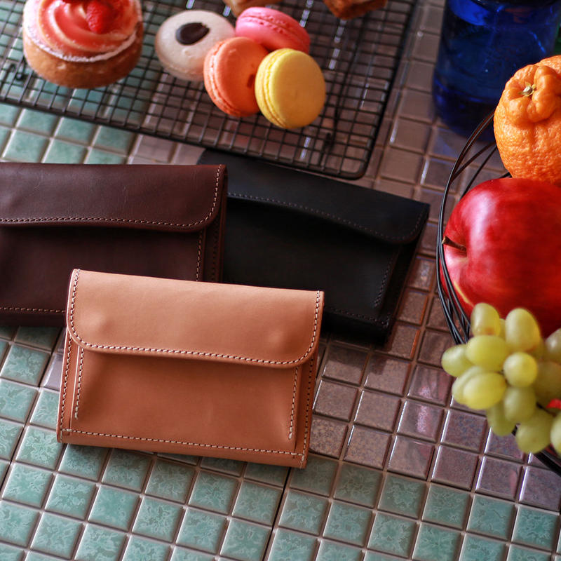 【THE SUPERIOR LABOR 】outside pocket middle wallet