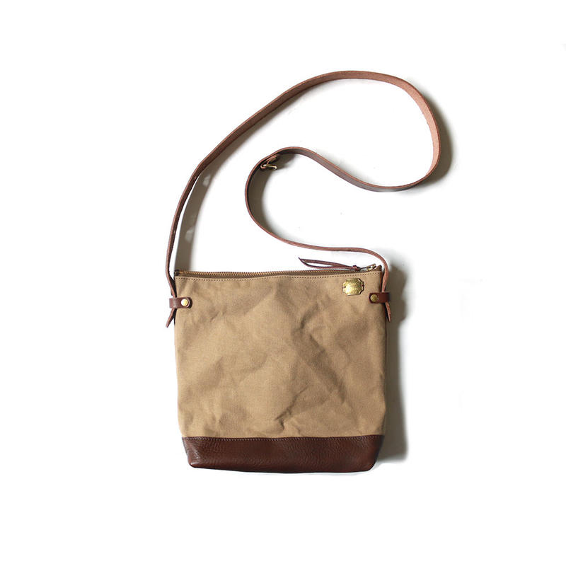 【THE SUPERIOR LABOR 】lether bottom shoulder bag deep S