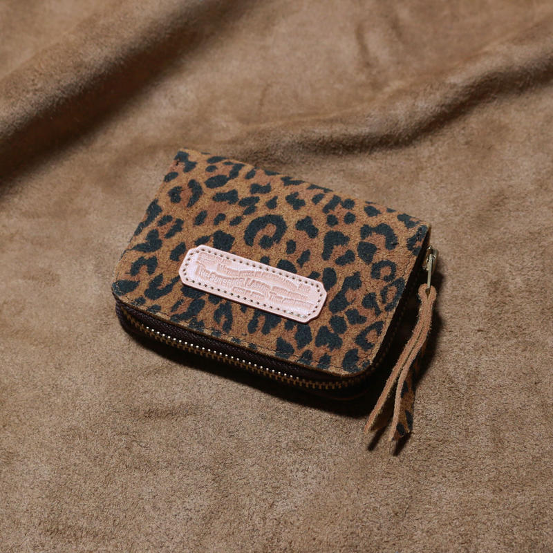 【THE SUPERIOR LABOR 】leopard print  zip small wallet