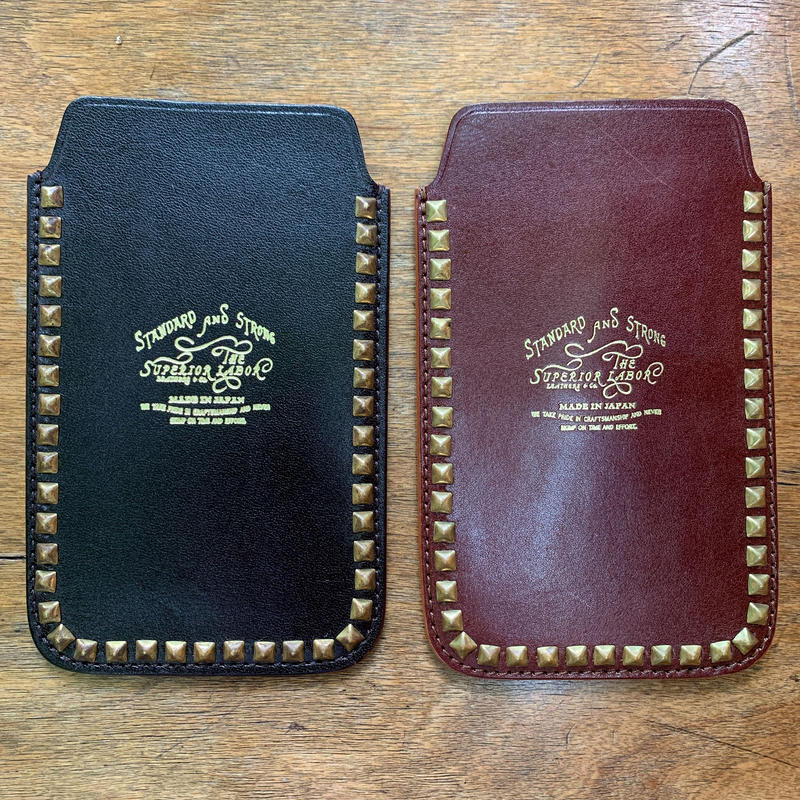 3.studs leather iPhone case(iPhone 6)