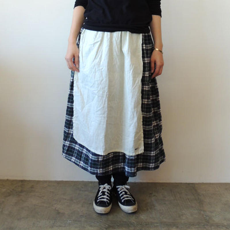 HARVEST SKIRT_GREEN FLANNEL