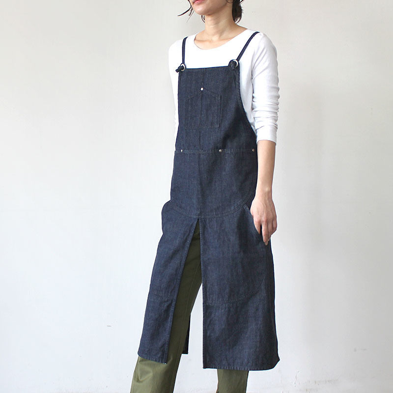 【直営店限定】SPLIT APRON DENIM_INDIGO